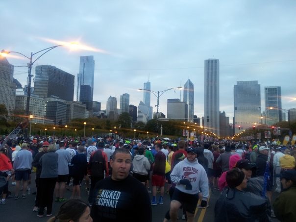 I met shivering people from around the world I the marathon corrals last year, many of whom were jealous of my short trip.