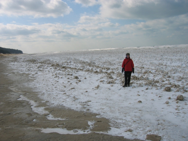 This is a cheat picture b/c it is from the Michigan side, but it is the only frozen Lake Michigan pic I can find.