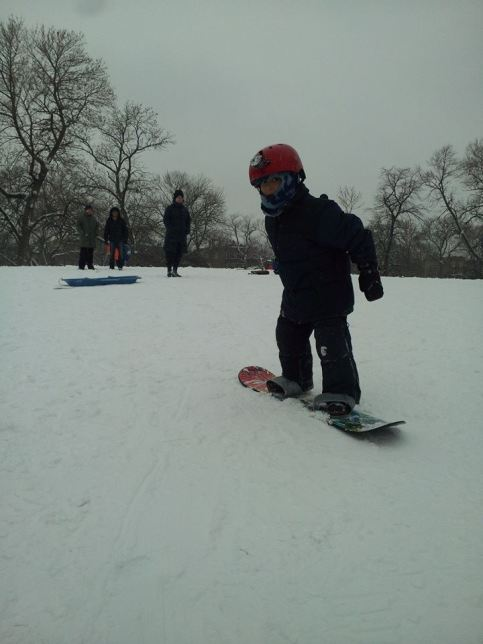Snowboarding at Mt. Humboldt.